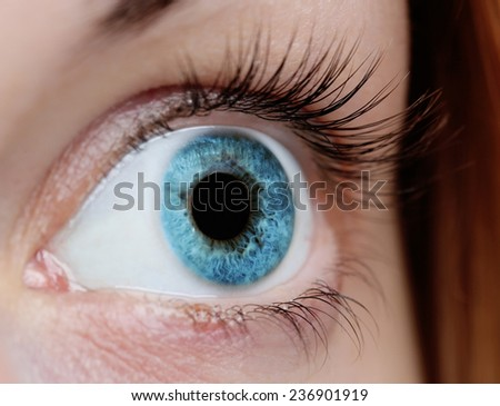 Female eye close-up  - stock photo