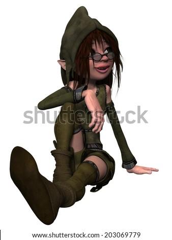 Female Fantasy Figure - stock photo