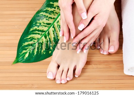 Female feet and hands
