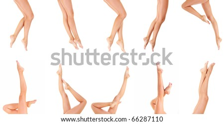 Female Feet Nude - stock photo