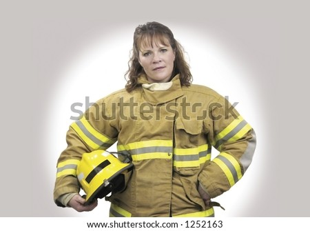Female Firefighter - stock photo