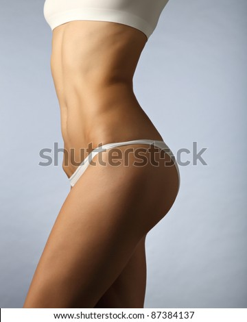 female fitness body - stock photo