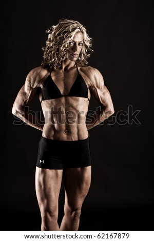 Female Fitness Bodybuilder - stock photo