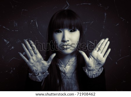 Female ghost - stock photo