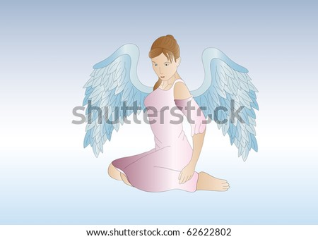 female guardian angel - stock photo