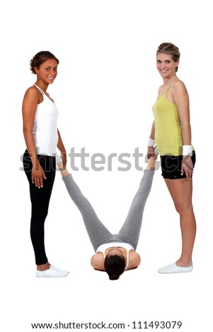 Female gymnast - stock photo