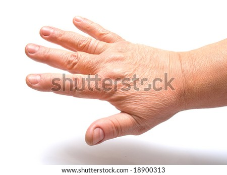 female hand on a white background. Isolation