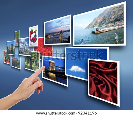 Female hand reaching images - stock photo