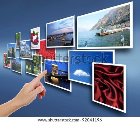 Female hand reaching images - stock photo