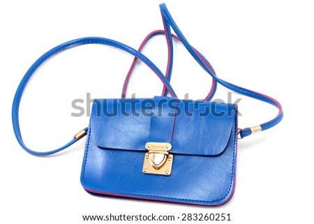 female handbag for cosmetics, isolated on a white  background