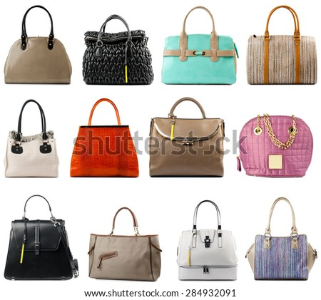 Set Womens Handbags Womens Bag Flat Stock Vector 634616363 ...
