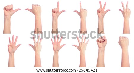 Female hands counting. Good or bad - stock photo
