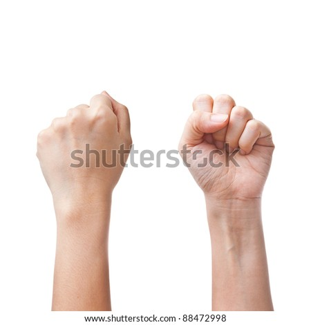 Female hands counting number zero - stock photo