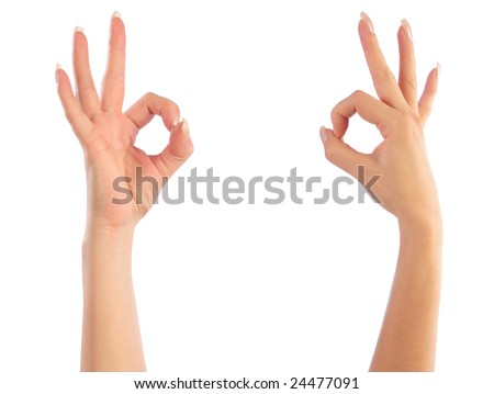Female hands counting zero