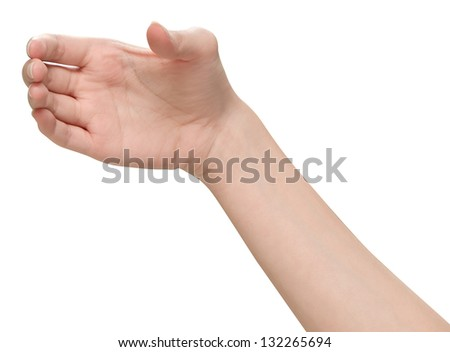 Female hands holding