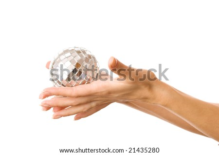 Hand Holding Planet Earth Isolated On Stock Photo
