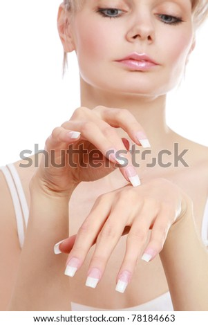 Female hands with a nice manicure