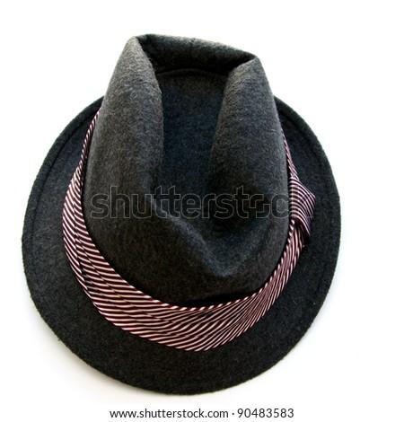 Female hat isolated on white  background - stock photo