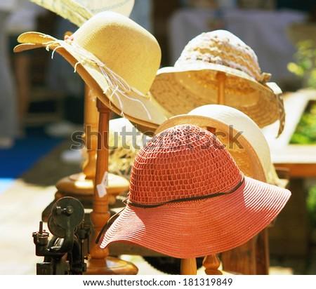 Female hats - stock photo