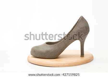 Female high-heeled shoes on white background?,Fashion apparel for women
