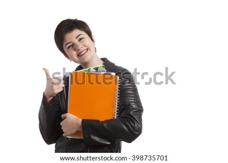female high school student - stock photo