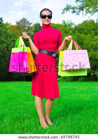 Female Holiday Happiness - stock photo