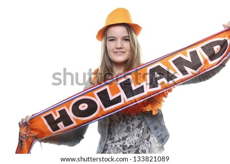 Female Holland supporter