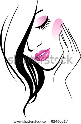 Female icon JPG - stock photo
