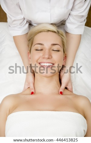 Female in tha spa salon - stock photo