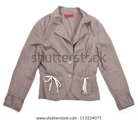 Female jacket isolated on white