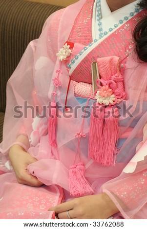 female kimono - stock photo