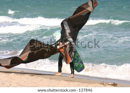 Female Kite surfer