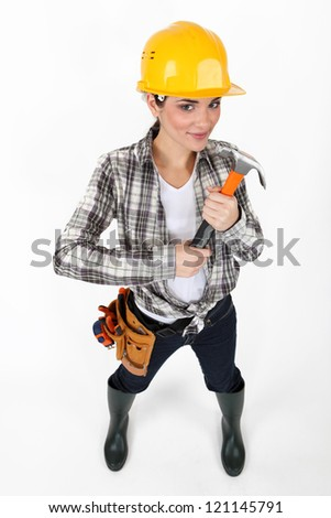 Female laborer - stock photo