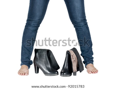female legs and boots