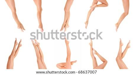 Female Legs Isolated - stock photo