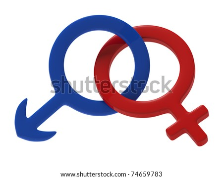 Female male symbol - stock photo