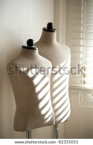 Female mannequin for a tailor - stock photo