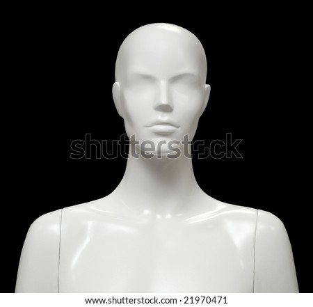Female mannequin isolated on black background. - stock photo