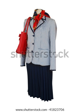 Female Mannequin isolated with clipping path - stock photo