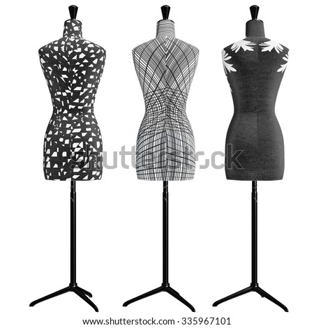 Cheap dress mannequin graphic