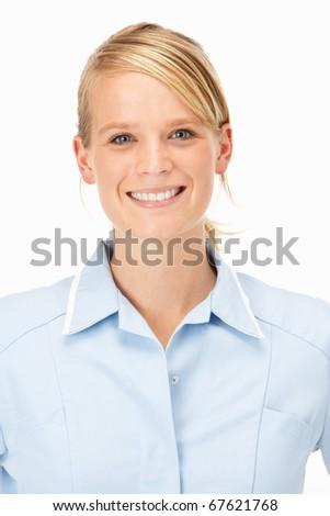 Female medical professional in studio - stock photo