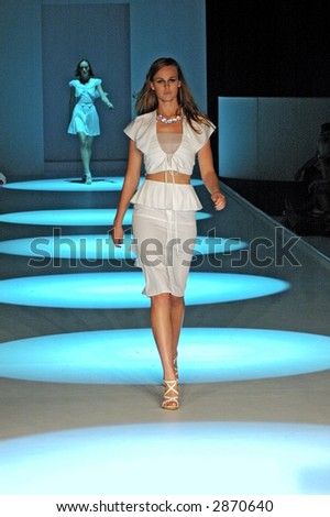 Female model at a fashion show