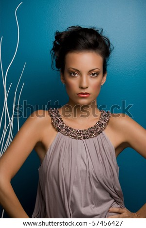 Female model posing - stock photo
