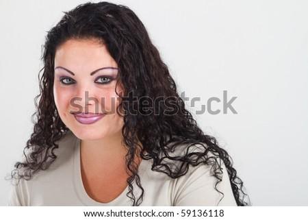 female plus size model - stock photo