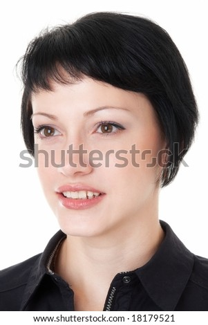 Female portrait. Beautiful young woman close up.