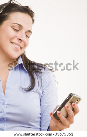 female professional text messaging - stock photo