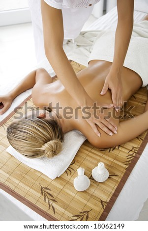 female receiving professional massage