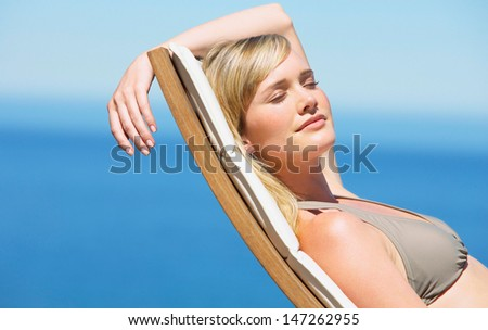female relaxed - stock photo