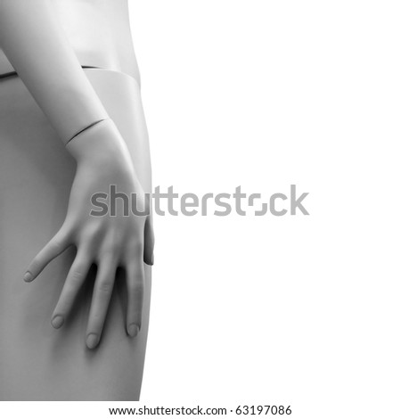 Female retail mannequin with copy space. - stock photo