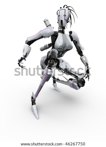 Female robot - stock photo